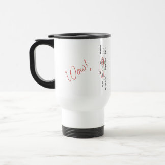 Wow Signal SETI Message Travel Mug