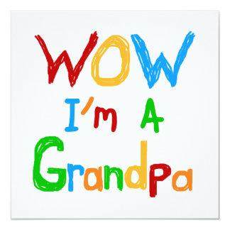 """Wow soy camisetas y regalos de un abuelo invitación 5.25"""" x 5.25"""""""