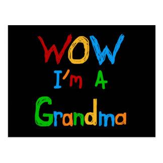 Wow soy camisetas y regalos de una abuela tarjeta postal