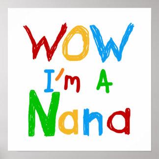 Wow soy camisetas y regalos de una Nana Póster