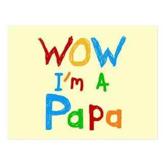 Wow soy camisetas y regalos de una papá tarjetas postales