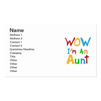 Wow soy una tía camisetas y regalos tarjeta personal