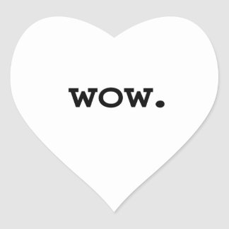wow. heart sticker