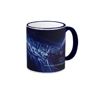 ¡ Wow Taza azul de la radiografía de la C-espin