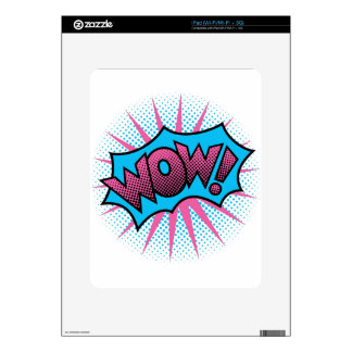 Wow Text Design Decal For The iPad
