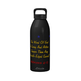 Wow water bottle Living and active God verse!