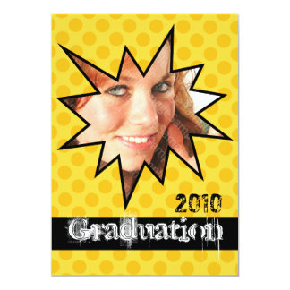 WOW Yellow Open House Party Graduation Invitations