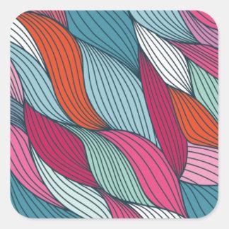 wowen colorfull pattern square sticker