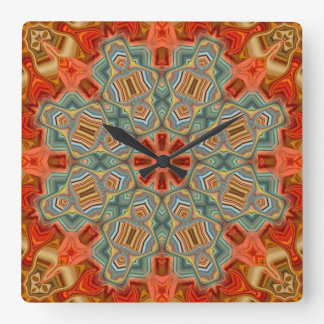 Wowzy 07 Mandala Square Modern Wall Clock