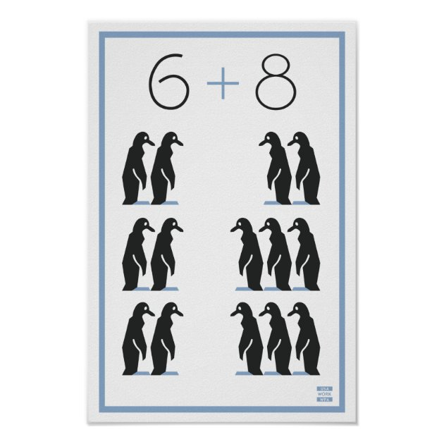 8 Penguin Math 6 Vintage WPA Poster