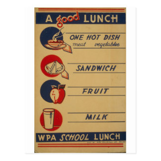 WPA - A Good Lunch Postcard