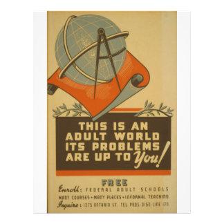WPA - Adult World Flyer Design