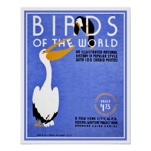 WPA Birds of the World advertising Poster