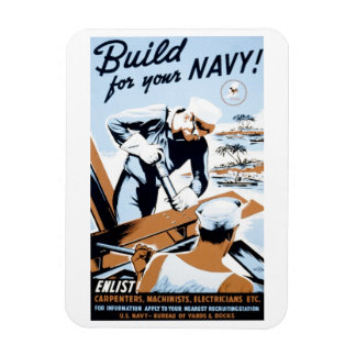 "WPA - ""Build for your Navy!"" Magnet"