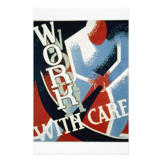 WPA - caja fuerte del trabajo Flyer A Todo Color