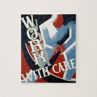 WPA - caja fuerte del trabajo Puzzles