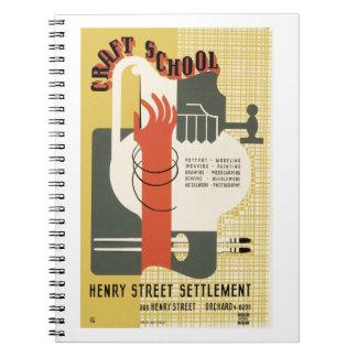 WPA Craft School Notebook