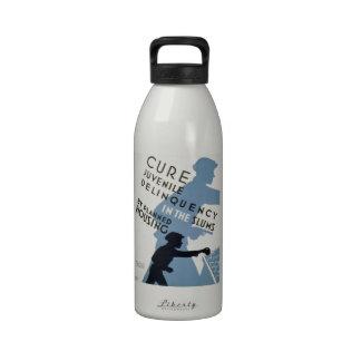 WPA - delincuencia juvenil Botella De Agua