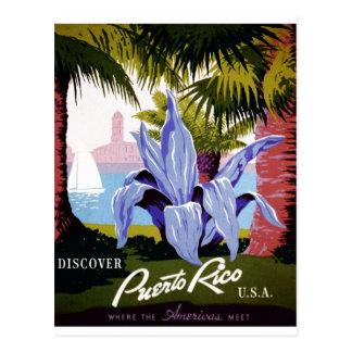 WPA - descubra Puerto Rico Tarjeta Postal