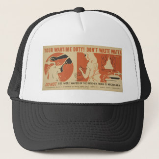 WPA - Don't Waste Water Trucker Hat