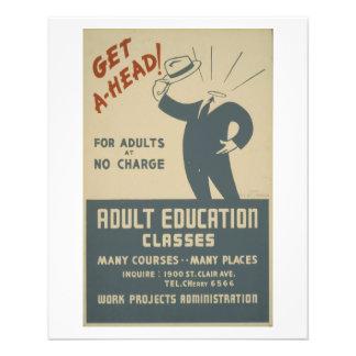 WPA - educación Tarjetas Publicitarias