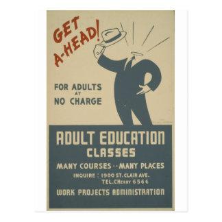 WPA - educación Postales