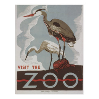 WPA - el parque zoológico Tarjetas Postales
