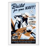 """WPA - """"estructura para su marina de guerra!"""" Tarje"""