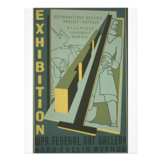 WPA - exposición de arte Tarjetas Publicitarias