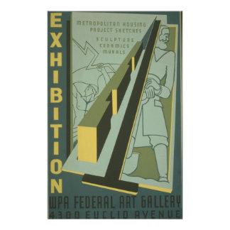 """WPA - exposición de arte Folleto 5.5"""" X 8.5"""""""