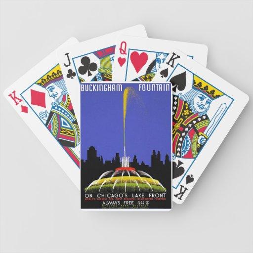 WPA - fuente de Buckingham Baraja Cartas De Poker