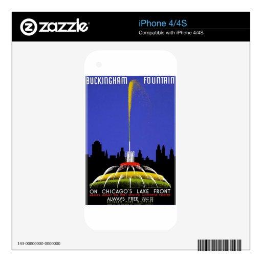 WPA - fuente de Buckingham Calcomanía Para iPhone 4