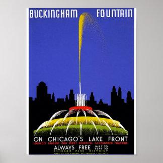 WPA - fuente de Buckingham Poster