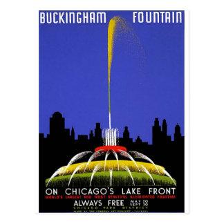 WPA - fuente de Buckingham Tarjetas Postales