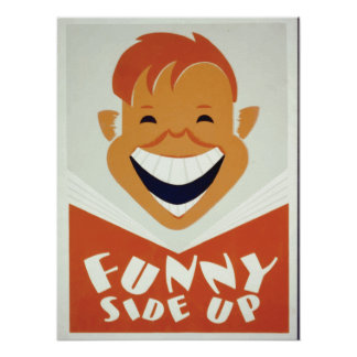 WPA Funny Side Up 1930s Poster