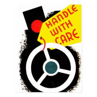 "WPA - ""Handle with Care"" Postcard"