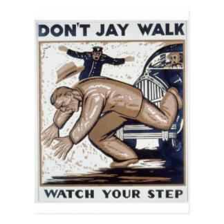 WPA - Jaywalk Postcard