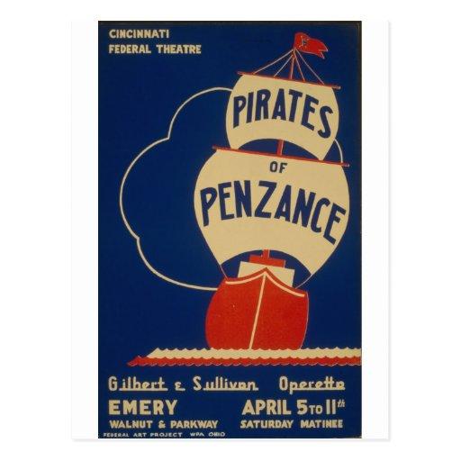 WPA - juego de los piratas Postal