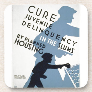 WPA - Juvenile Delinquency Drink Coaster