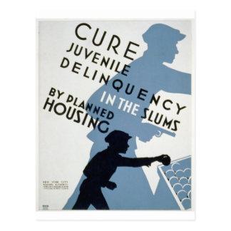 WPA - Juvenile Delinquency Postcard