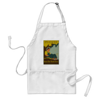 WPA - Keep the Park Clean Adult Apron