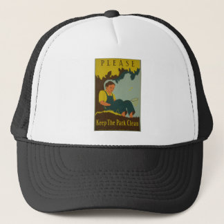 WPA - Keep the Park Clean Trucker Hat