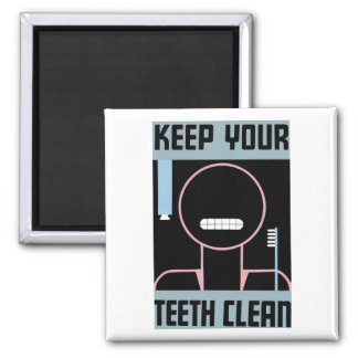 "WPA - ""Keep Your Teeth Clean"" Magnet"