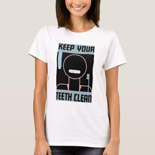 """WPA """"Keep Your Teeth Clean"""" Tee  Shirt"""