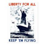"""WPA - """"Liberty for All """" Postcard"""