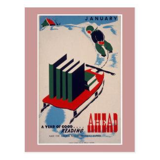 WPA Library Poster Postcard