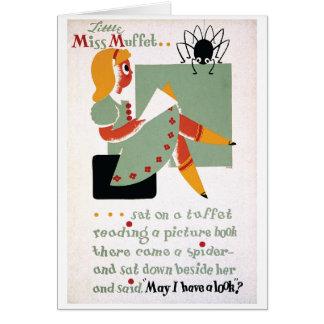 WPA Little Miss Muffet 1936 Card