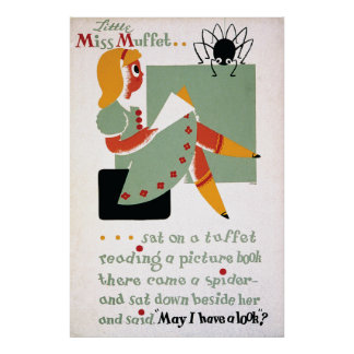 WPA Little Miss Muffet 1936 Poster