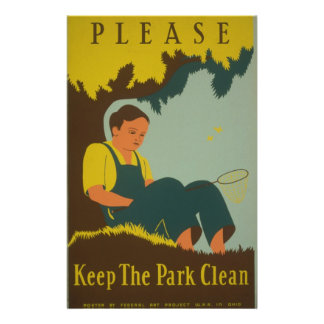 WPA - mantenga el parque limpio Tarjetón