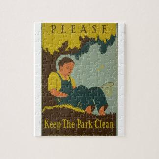 WPA - mantenga el parque limpio Rompecabezas Con Fotos